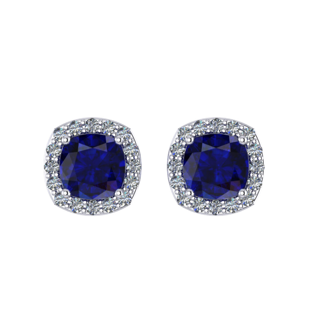 Blue Sapphire Gemstone Earring inspired by Princess Diana