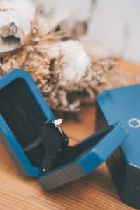 zcova diamond engagement ring with proposal box