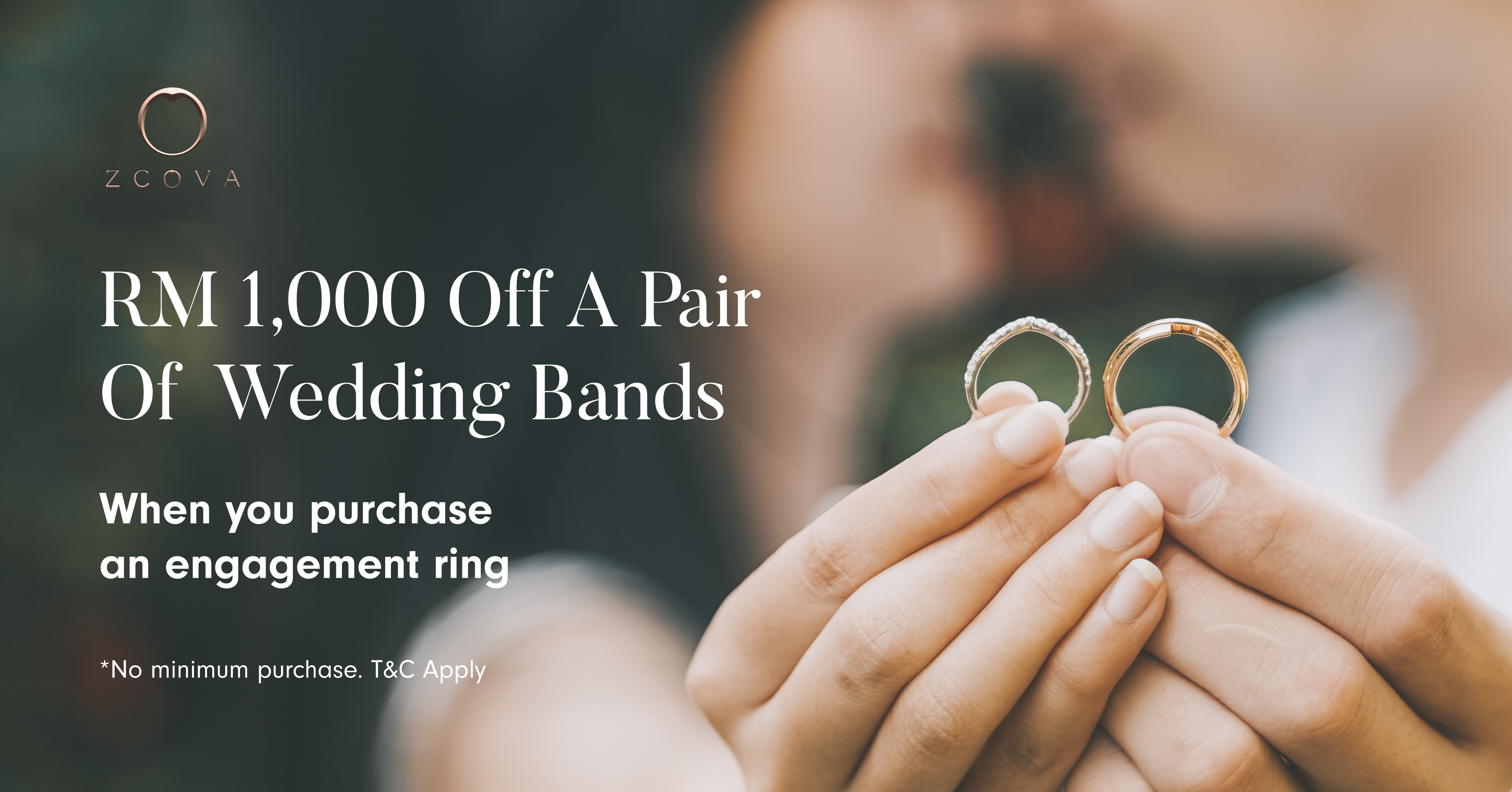 zcova wedding band promotion malaysia rm1000 discount voucher