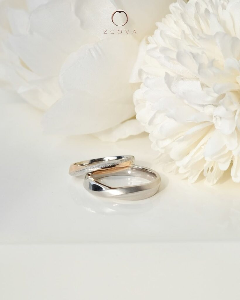 mixed metal two tone wedding band, 18K gold two tone mixed gold wedding band
