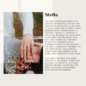 ZCOVA Customer Review on Proposal Engagement Ring