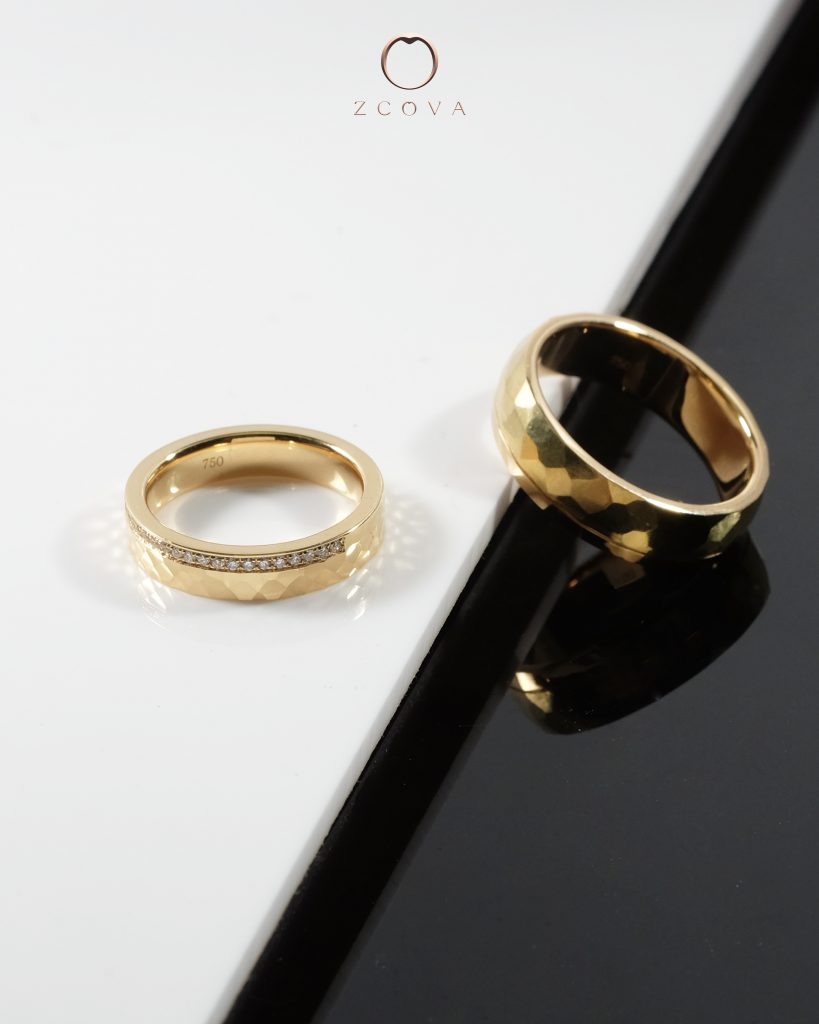 18K Yellow Gold Wedding Band Designs