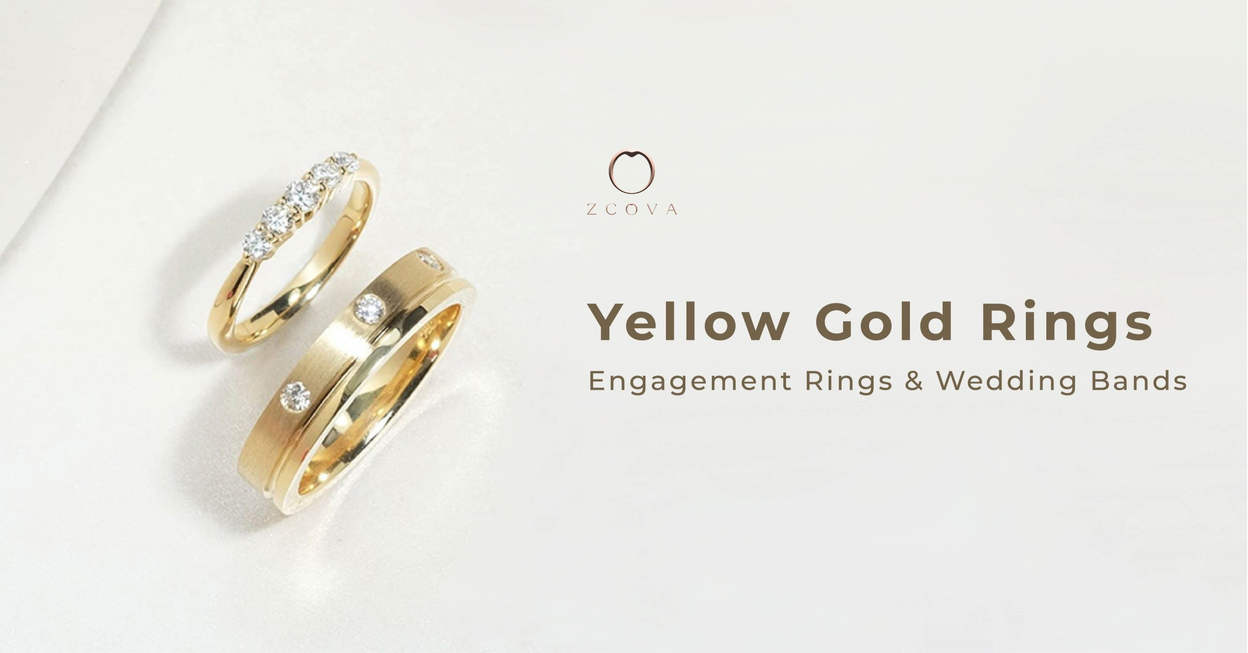 Yellow Gold Engagement Rings and Wedding Bands